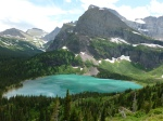Glacial lake in Glacier National Park, MT
