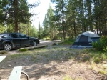 Car camping in Grand Teton National Park